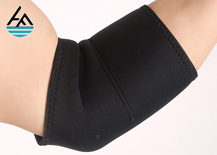 Black  Neoprene Elbow Sleeve / Elbow Compression Sleeve For Weightlifting